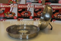 Сковорода гриль-газ D-511 нержавеющая сталь